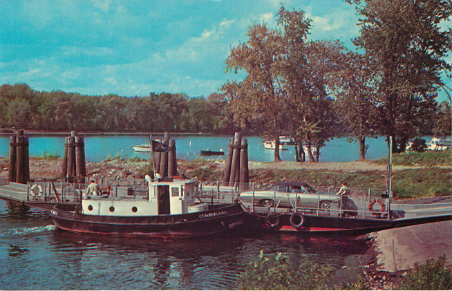 Rocky Hill So. Glastonbury Ferry Boat Postcard