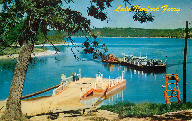 Lake Norfolk Ferry Boat Postcard