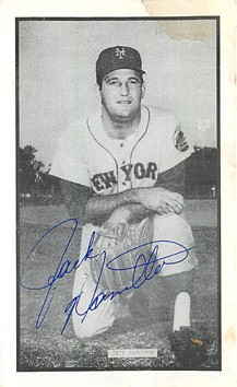 Baseball Postcard - Signed pictured of Jack Hamilton
