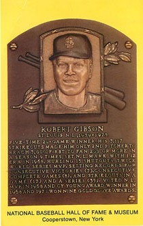 Baseball Postcard - Robert Gibson-National Baseball Hall of Fame