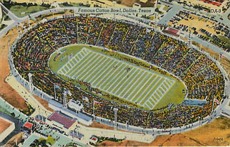 Football Postcard - Famous Cotton Bowl, Dallas, Texas