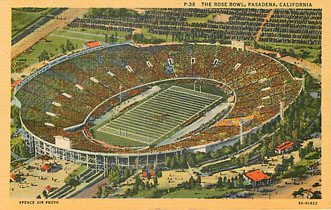 Football Postcard - The Rose Bowl, Pasadena, California