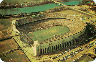 Football Postcard - Aerial View of Ohio State University Stadium