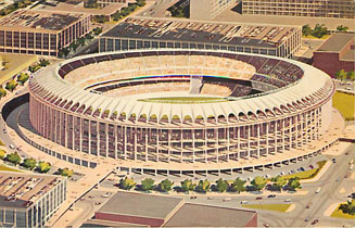 Football Postcard - Busch Memorial Stadium