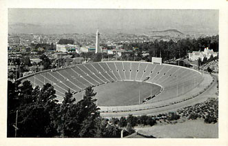 Football Postcard - California Memorial Stadium