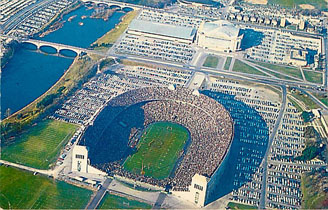 Football Postcard - Aerial View of Ohio State Universtiy Stadium