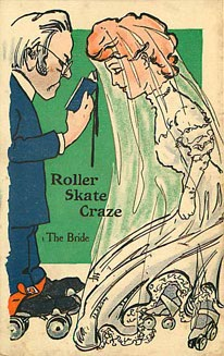 Roller Skate Craze - The Bride - Postcard