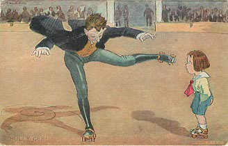 Roller Skating Series No. 8 Hully Gee!! Postcard Postmarked 1912