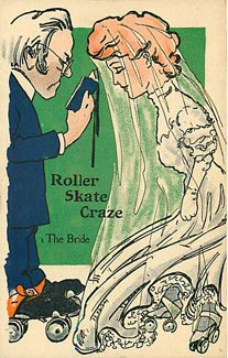 Roller Skate Craze - The BRIDE Postcard