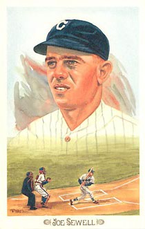 Joe Sewell Baseball Postcard CELEBRATION Set No. 7513/10,000