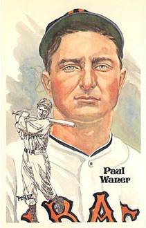 Paul Waner Baseball Postcard Perez-Steele Galleries
