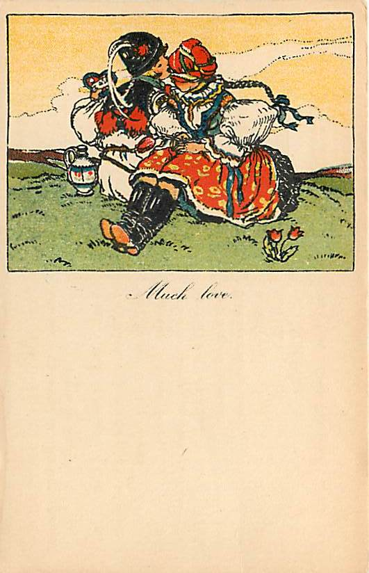 Much Love - Czech Postcard MFK