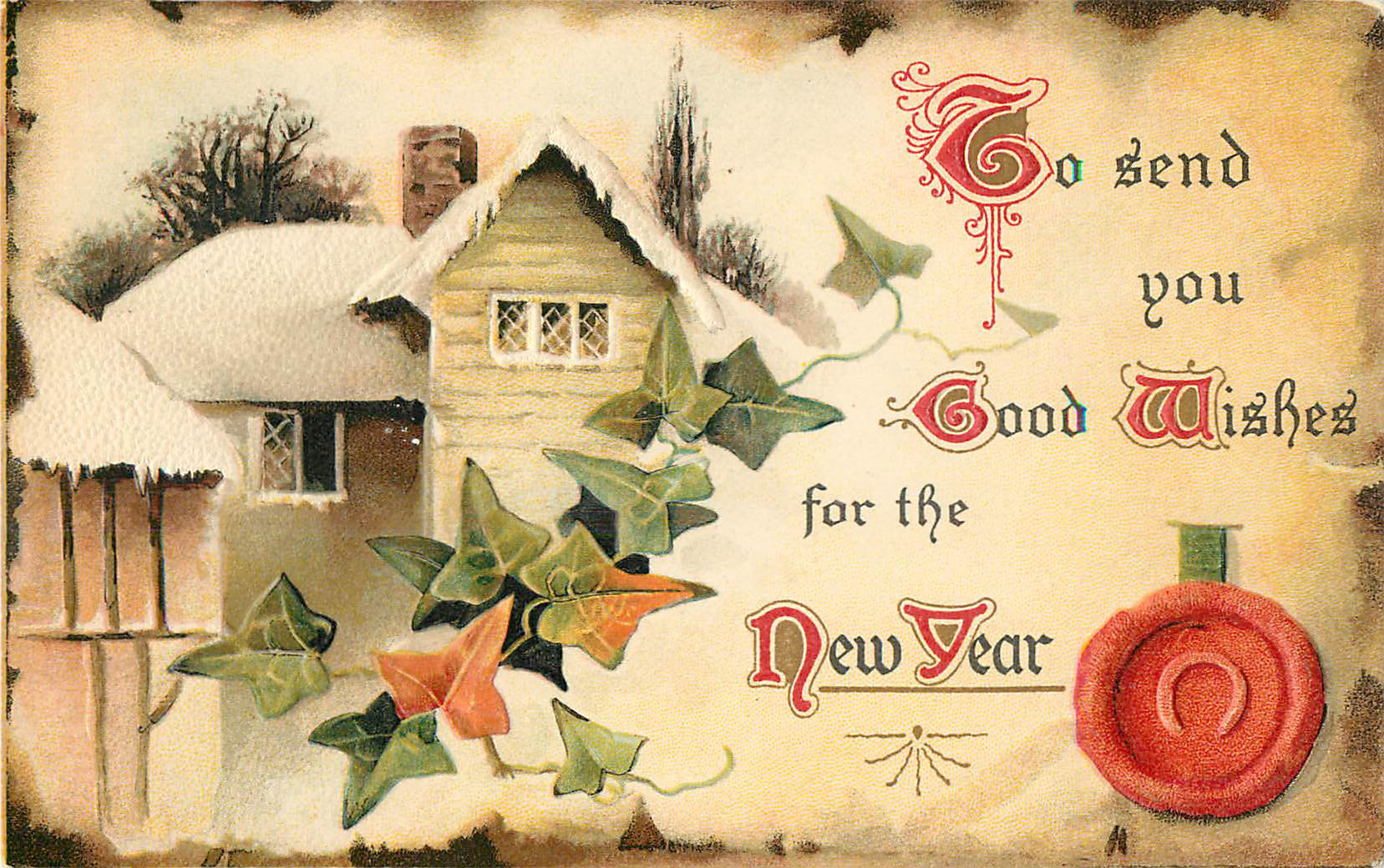 To Send You Good Wishes for the New Year - Postcard
