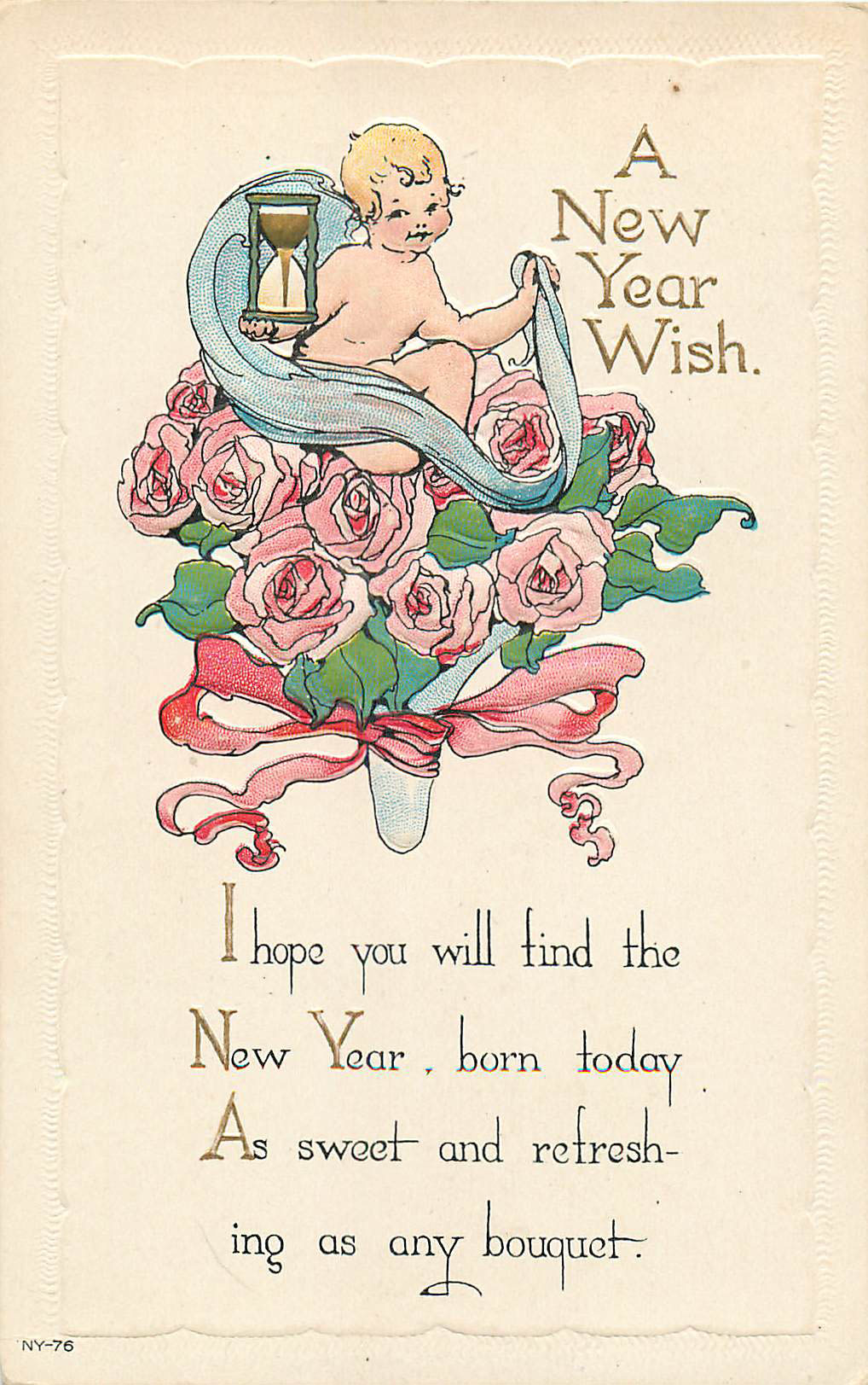 A New Year Wish Postcard