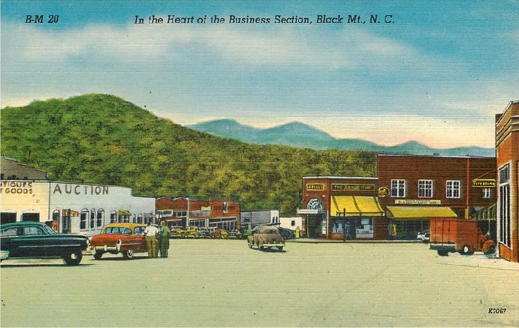 In the Heart of the Business Section, Black Mt., NC