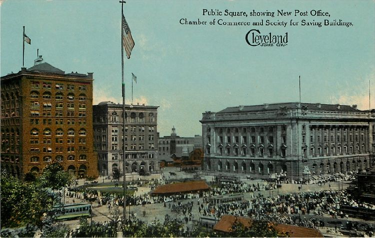 Cleveland - Sixth City - Public Square, showing New Post Office