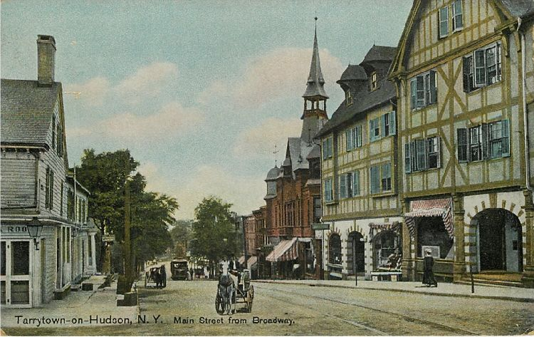 Tarrytown-on-Hudson, N.Y. Main Street from Broadway