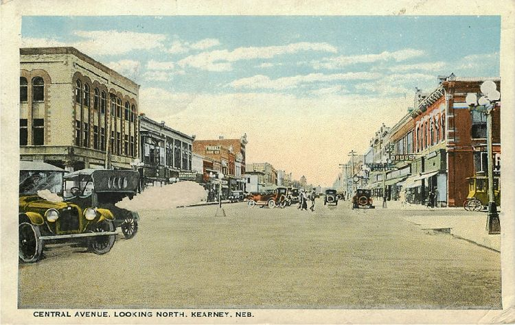 Central Avenue, Looking North, Kearney, Neb.