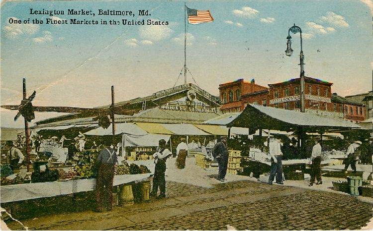 Lexington Market, Baltimore, Md. One of the Finest Markets in US