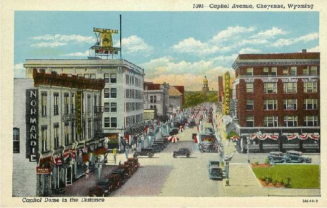 Capitol Avenue, Cheyenne, Wyoming - Capitol Dome in the Distance