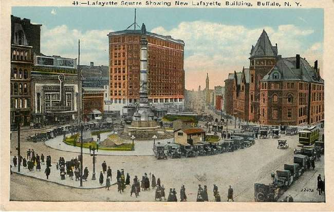 Lafayette Square Showing New Lafayette Building, Buffalo, N.Y.
