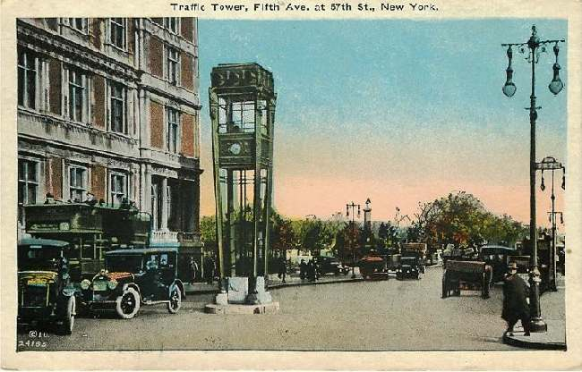 Traffic Tower, Fifth Ave. at 57th St., New York