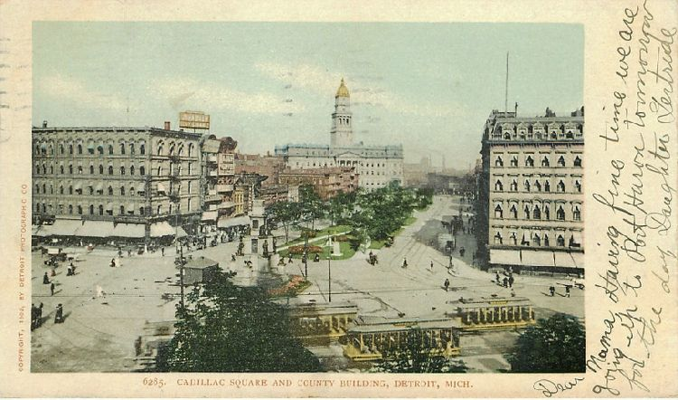 Cadillac Square and County Building, Detroit, Mich.