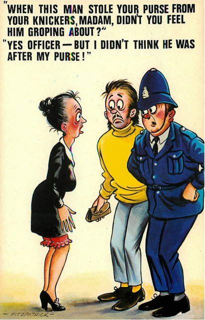 """Officer and Thief"" Bamforth Comic"