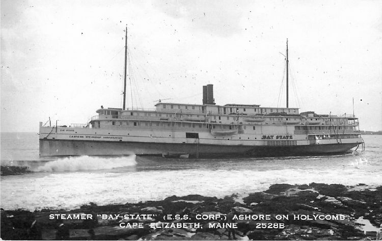 "Steamer ""Bay State"" (E.S.S. Corp.) - Maine - No. 2528B"