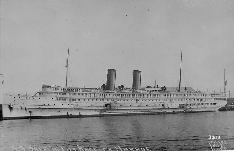 S.S. Yale in Los Angeles Harbor - No. 3317