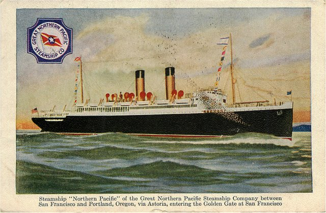 "Steamship ""Northern Pacific"" of the Great Northern Pacific Steam"
