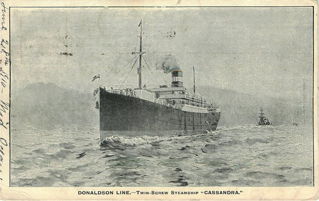 "Donaldson Line - Twin-Screw Steamship ""Cassandra"""