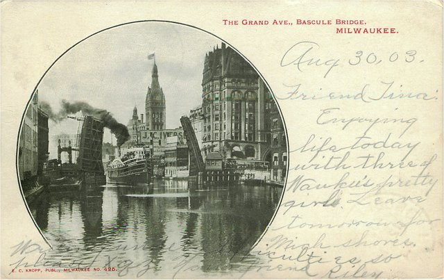The Grand Ave., Bascule Bridge, Milwaukee No. 425