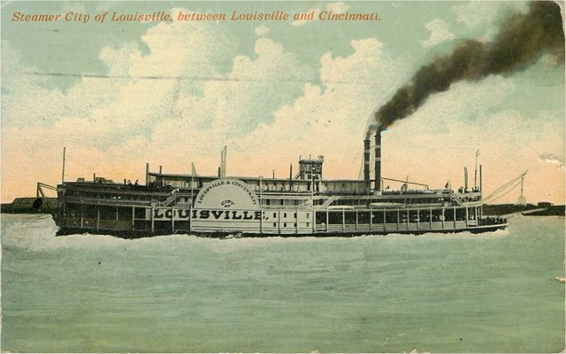 Steamer City of Louisville, Between Louisville and Cincinnati