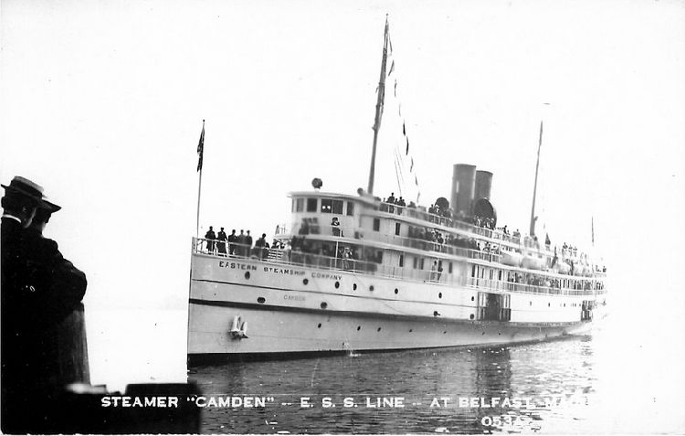 "Steamer ""Camden"" -- E.S.S. Line -- At Belfast, Maine - No. 053A"