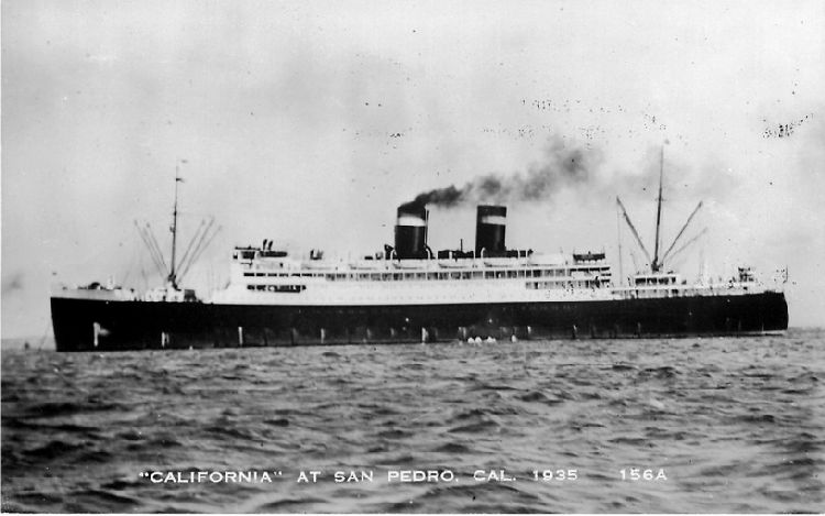 """California"" at San Pedro, Cal. 1935 - No. 156A"