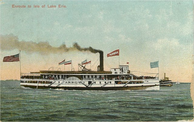 Enroute to Isle Lake Erie on Steamer Boat