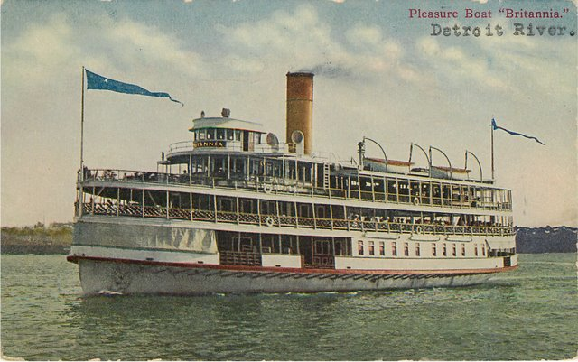 "Pleasure Steamer Boat ""Britannia"" on the Detroit River"