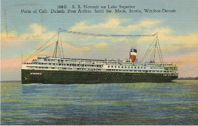 108-D S.S. Noronic on Lake Superior - Steamer Boat