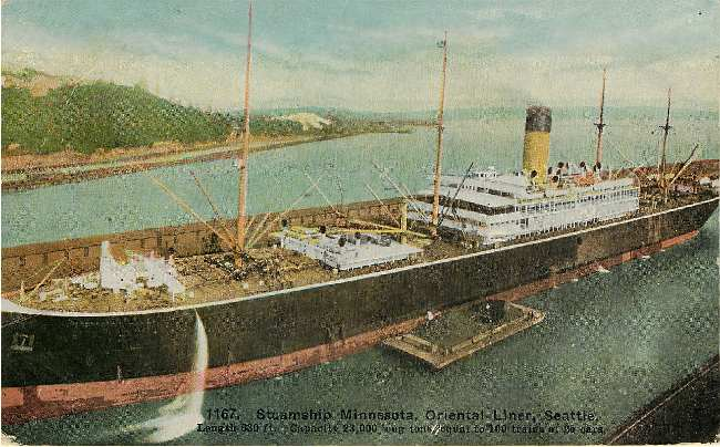 1167, Steamship Minnesota, Oriental Liner, Seattle.