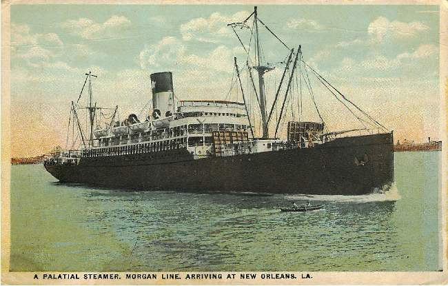 A Palatial Steamer, Morgan Line, Arriving in New Orleans, LA