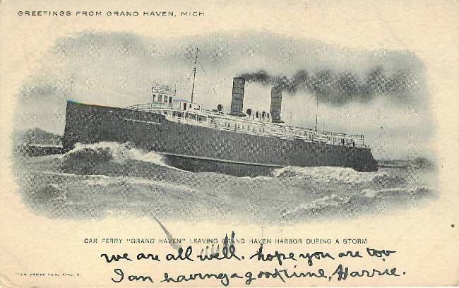 "Car Ferry Steamboat "" Grand Haven"""