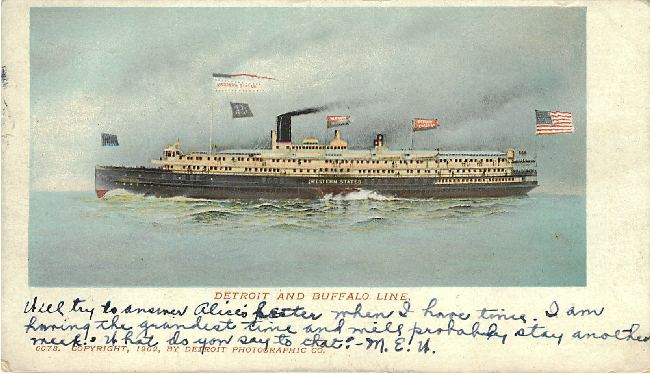 Western States Steamer Boat- Detroit and Buffalo Line