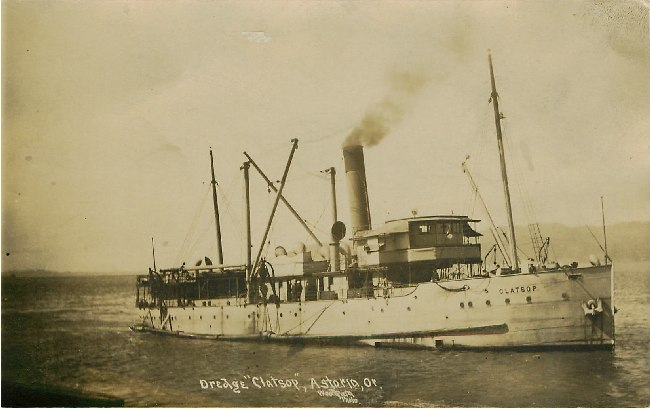 "Dredge ""Clatsop"" Steamerboat, Astorio, OR"