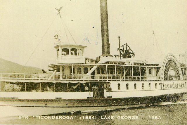 "STR. ""Ticonderoga"" (1884) Lake George, No. 198A"