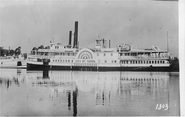 City of Tampa steamer boat at Port