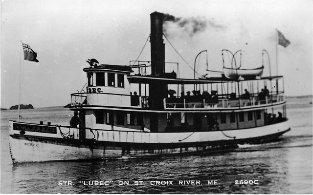 "Str. ""Lubec"" on St. Croix River, ME. No. 2690C"