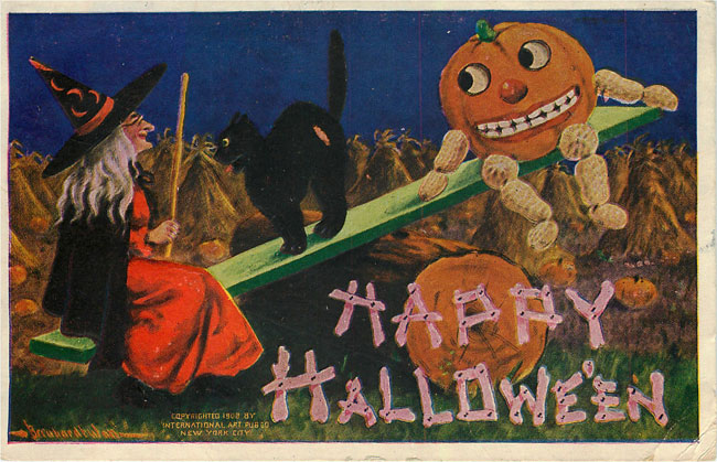 Happy Halloween Postcard signed 1909