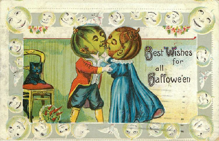 Halloween Postcard - Best Wishes for all Halloween1911