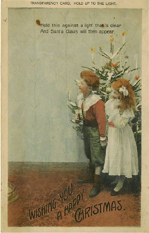 Wishing You a Happy Christmas - Children by Tree with Santa